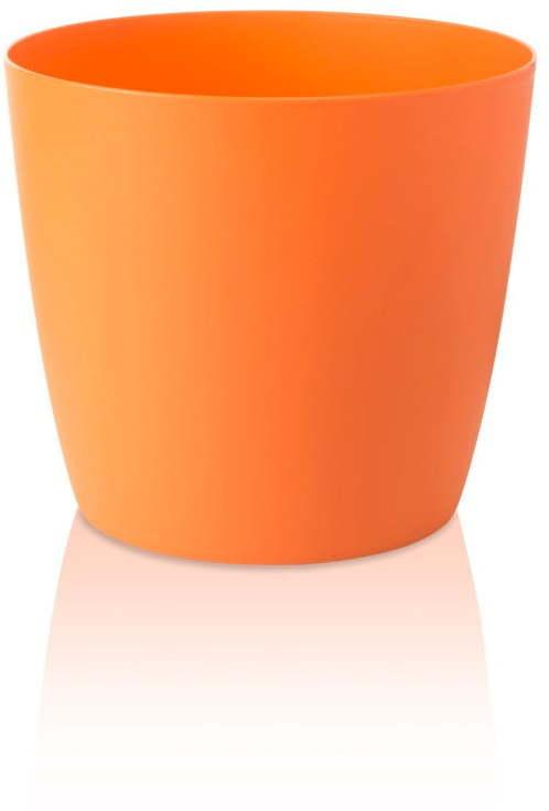 Oranžový kvetináč s pojazdnými kolieskami Gardenico Ella Twist'n'Roll Smart System, ø 29 cm