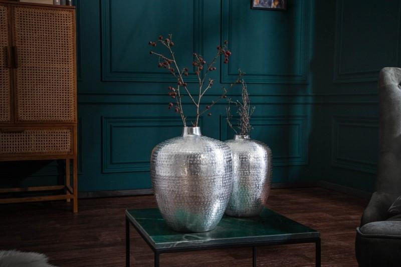 Orientálna váza 2set strieborná