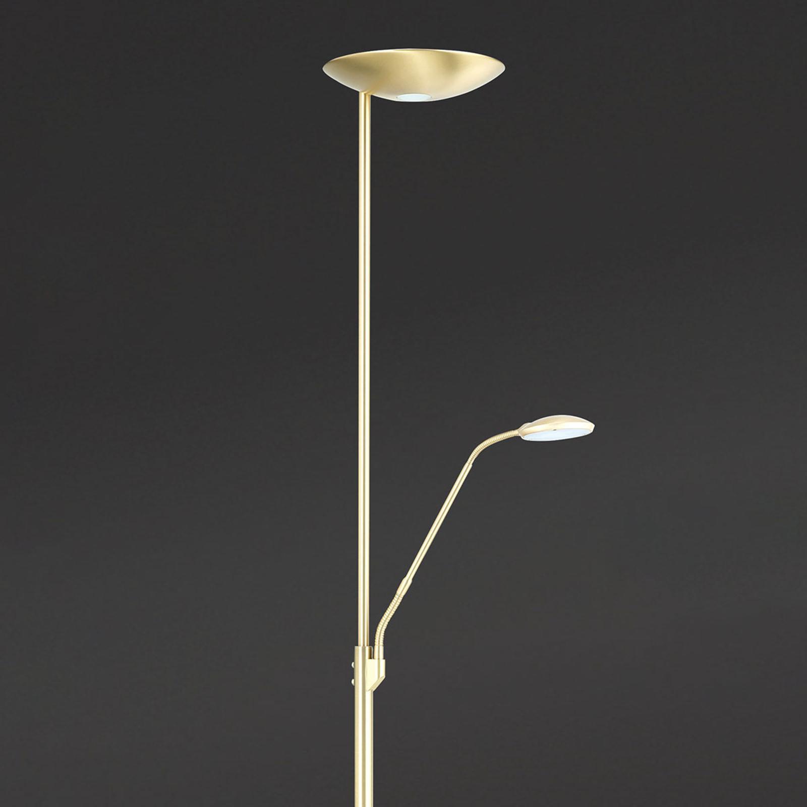 Orion Stropné LED svietidlo Cobra lampa čítanie mosadz