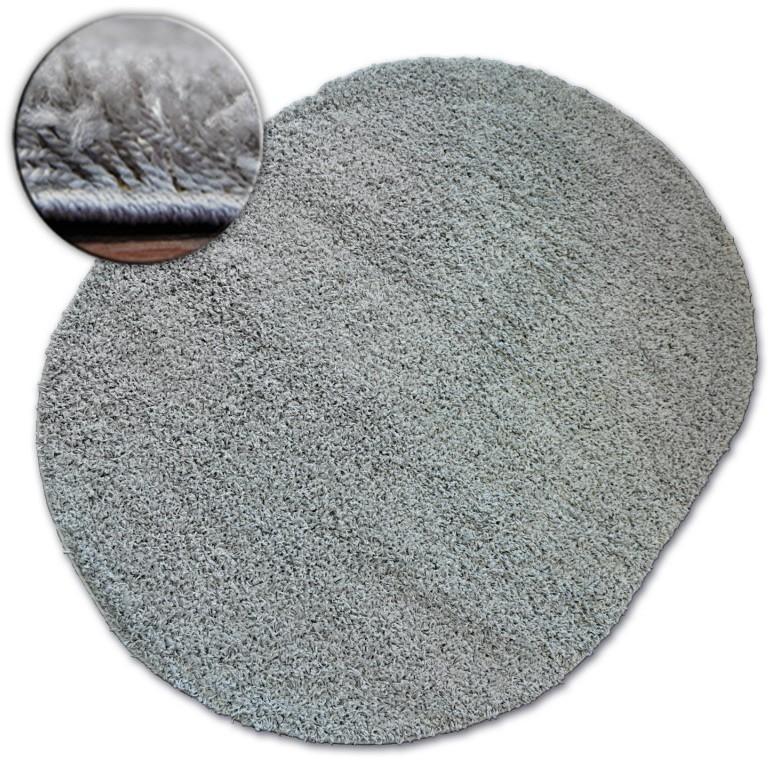 Oválny koberec SHAGGY GALAXY sivý