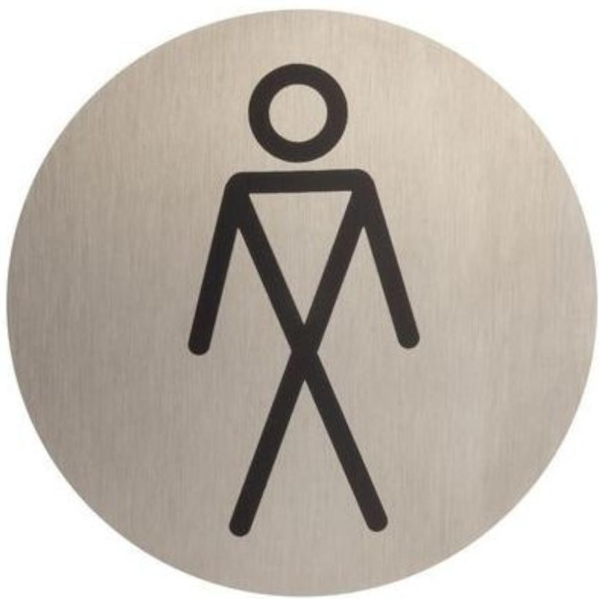 Označenie WC pánske inox