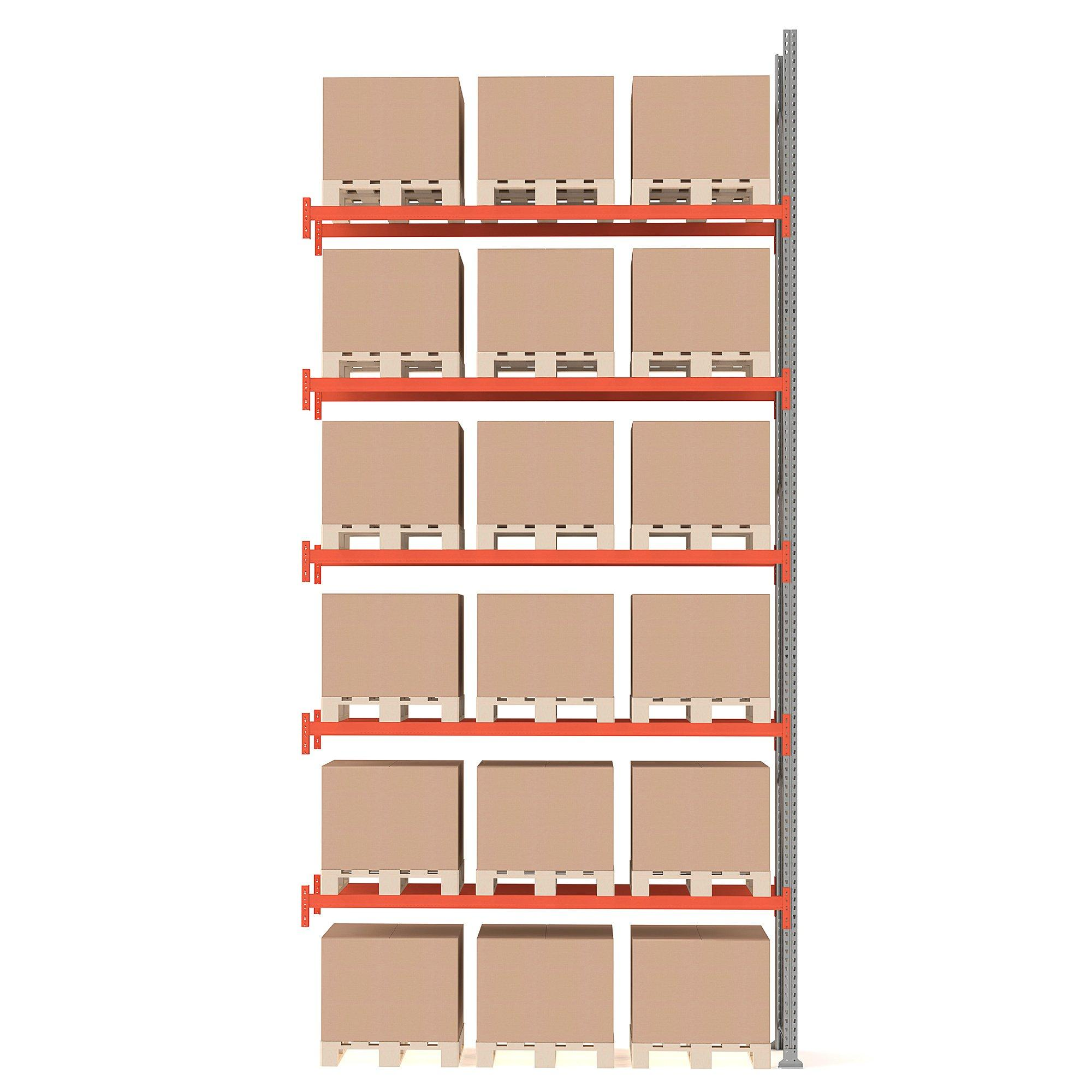 Paletový regál Ultimate, prídavná sekcia, 18 paliet, 6000x2750x1100 mm