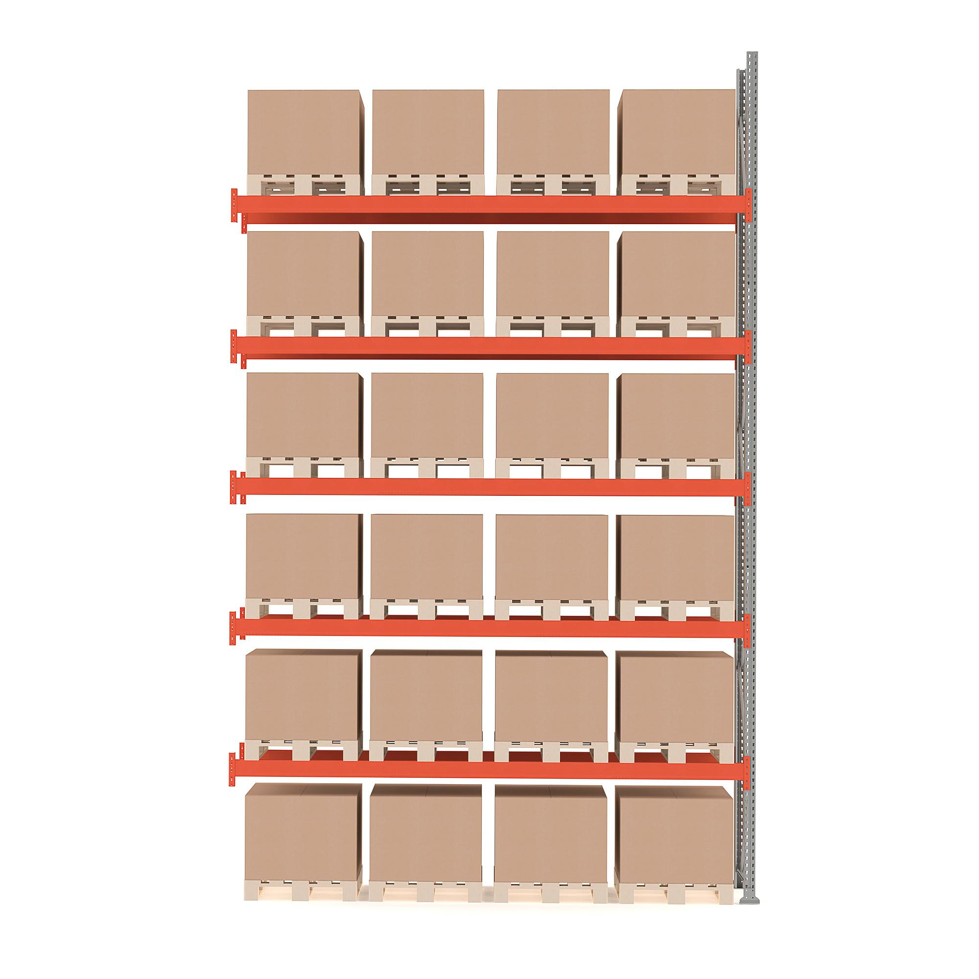 Paletový regál Ultimate, prídavná sekcia, 24 paliet, 6000x3600x1100 mm