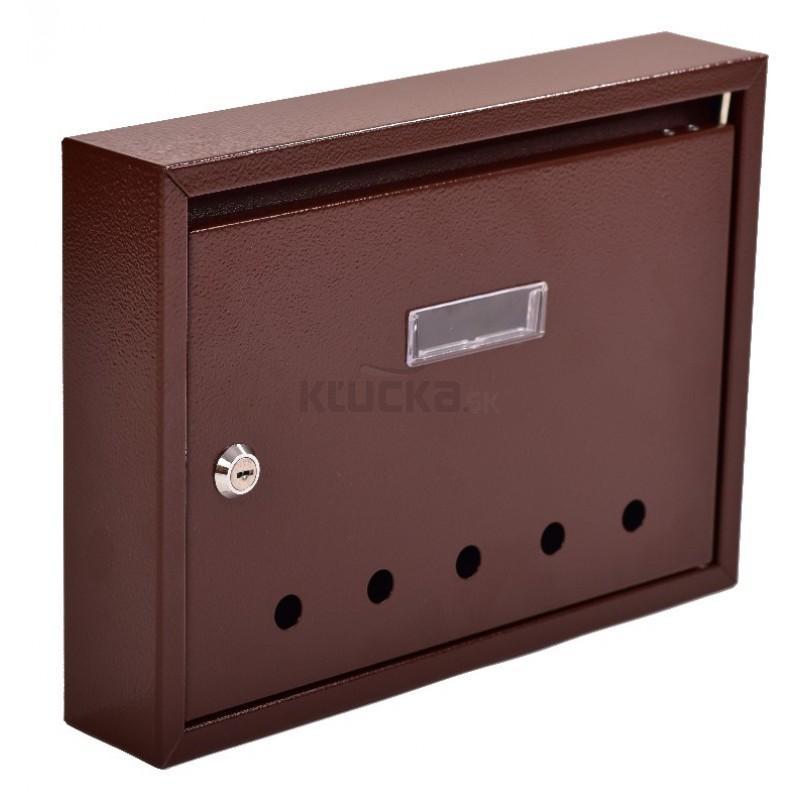 PANEL poštová schránka, RAL 8016 / Hnedá