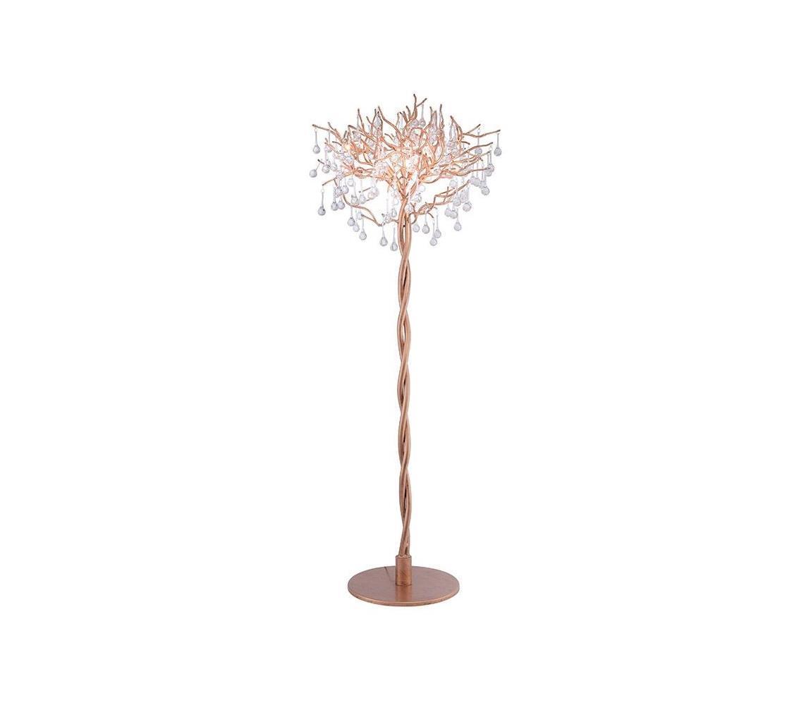 Paul Neuhaus 232-11 - Stojacia lampa ICICLE 5xG9/40W/230V medená