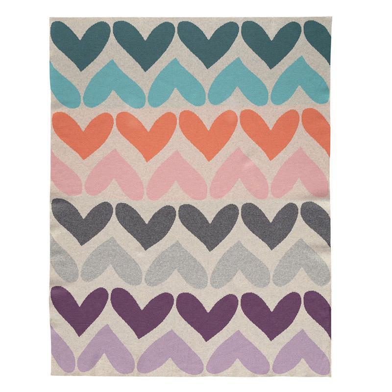 PETITE&MARS - Deka Harmony Pure Hearts 100% bavlna 80x100 cm