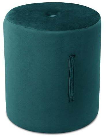 Petrolejovomodrý puf Mazzini Sofas Fiore, ⌀ 40 cm