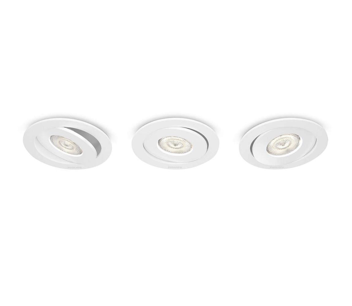 Philips 59183/31/16 - SADA 3x LED podhľadové svietidlo ASTEROPE 3xLED/4,5W/230V