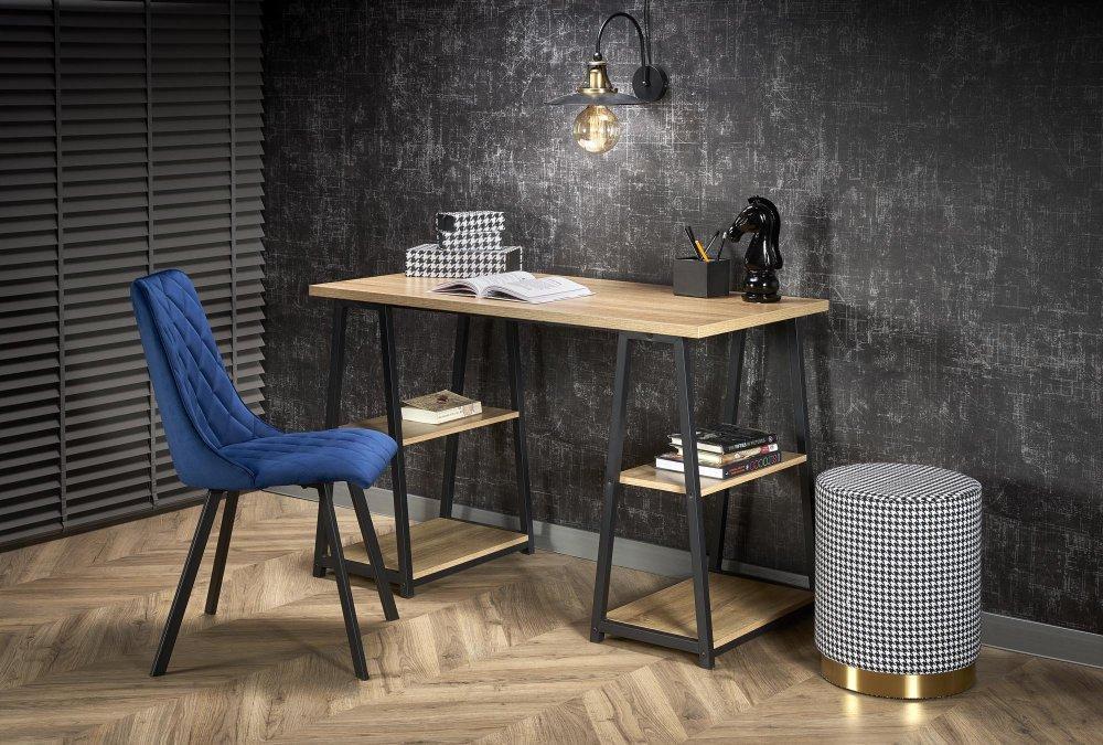 Písací stôl B44 dub sonoma / čierna Halmar