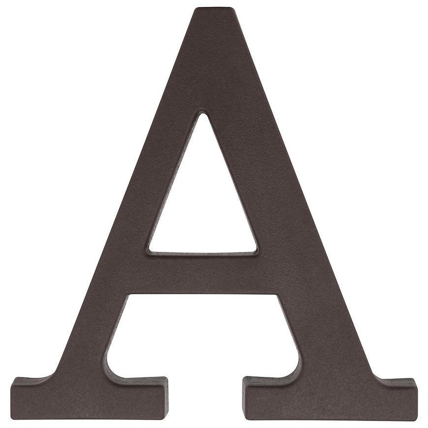 Písmeno A hnedé 9 cm