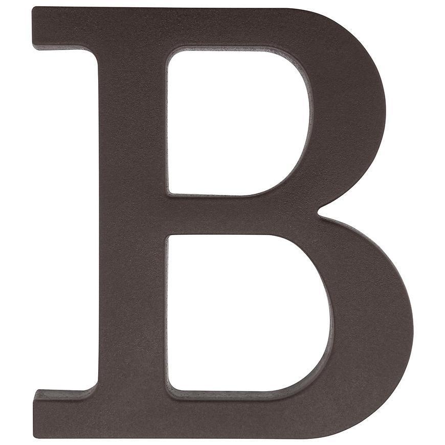 Písmeno B hnedé 9 cm