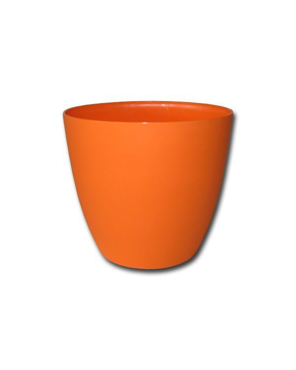 PLASTKON  - Dekoratívny kvetináč ELLA 18 oranž