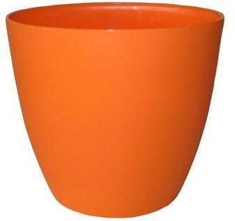 Plastkon Obal kvetináča ELLA 11 cm, oranžová matná