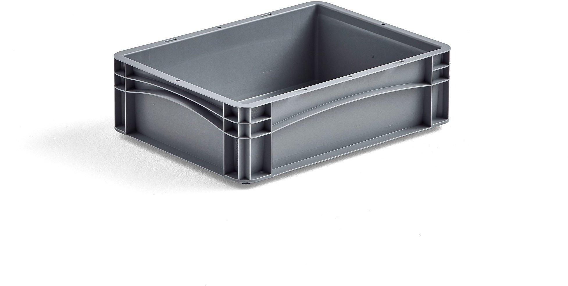 Plastová prepravka AJ EURO, 12 L, 400x300x120 mm