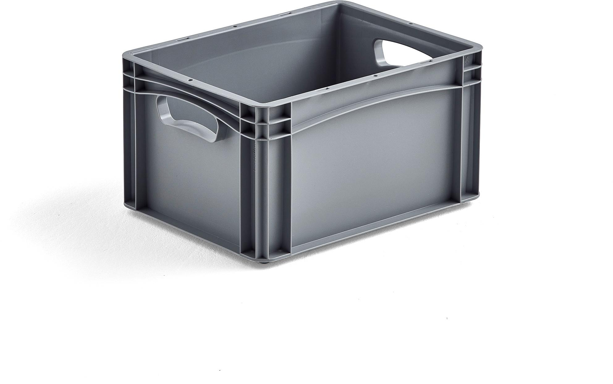 Plastová prepravka AJ EURO, 21 L, 400x300x220 mm