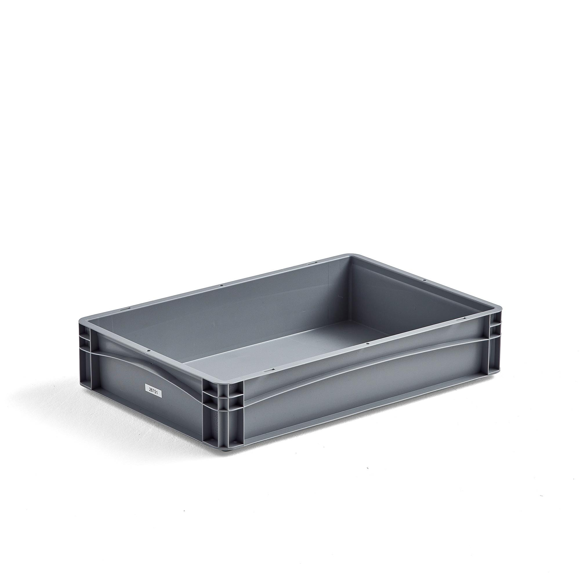 Plastová prepravka AJ EURO, 21 L, 600x400x120 mm