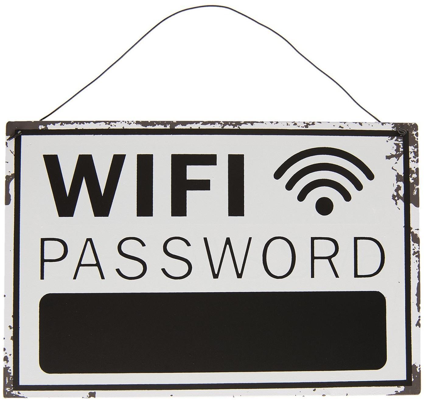 Plechová ceduľka Wifi - 30 * 20 cm