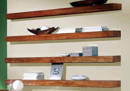 Polica na stenu Tara 50x22x7 indický masív palisander - Natural