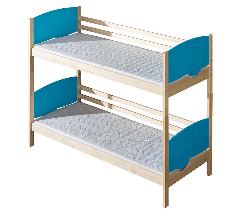 Poschodová posteľ 80 cm - Tini (s roštami a úl. priestorom). Akcia -30%.