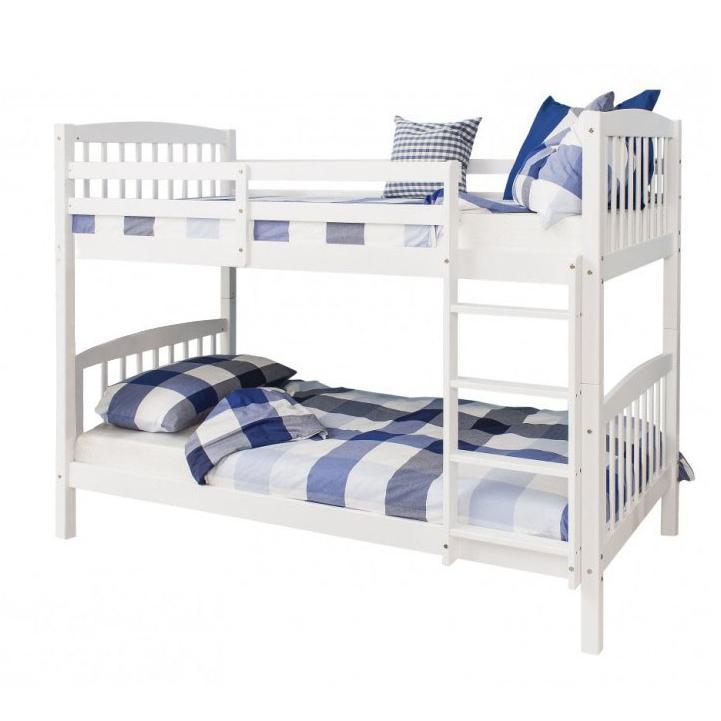 Poschodová posteľ 90 cm Ravelo (s roštom)