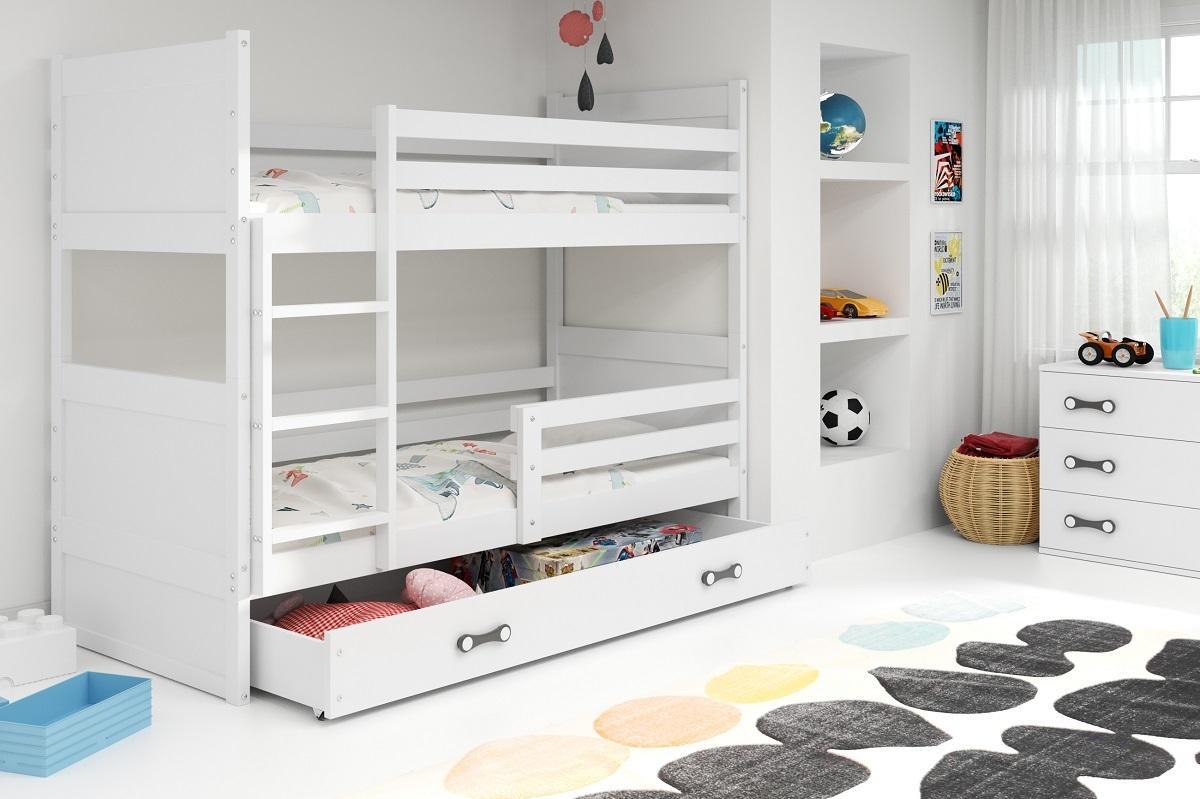 Poschodová posteľ RICO 2 - 160x80cm - Biely - Biely