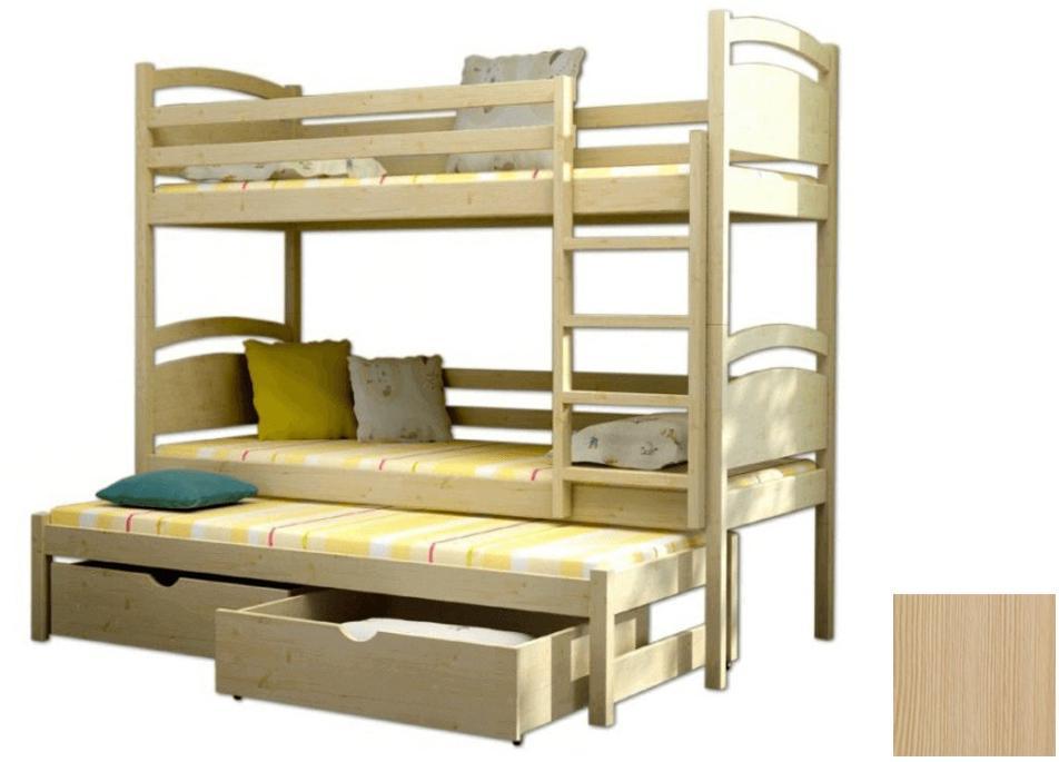 Poschodová posteľ Vomaks PPV 002 Farba: Biela, Variant bariéra: Bez bariéry