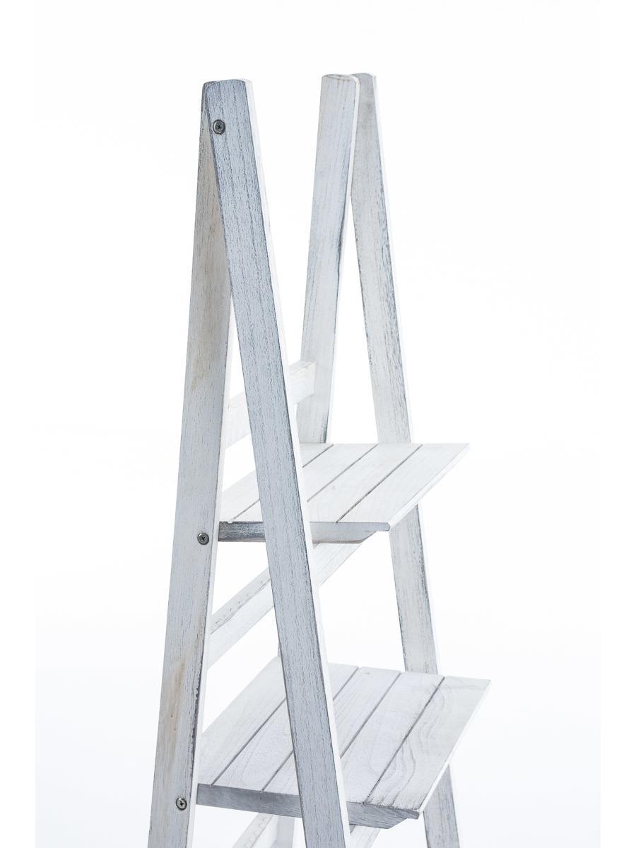 Poschodový regál Talma, 153 cm, antik biela