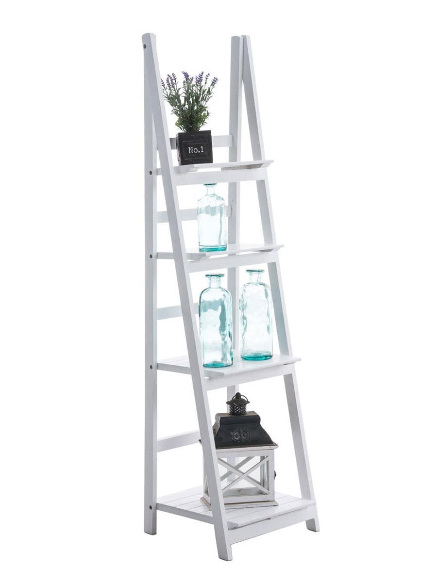 Poschodový regál Talma, 153 cm, biela