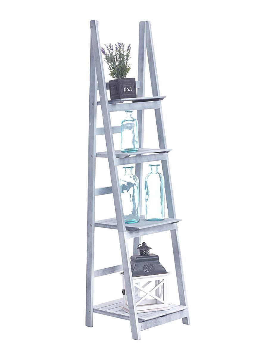 Poschodový regál Talma, 153 cm, sivá