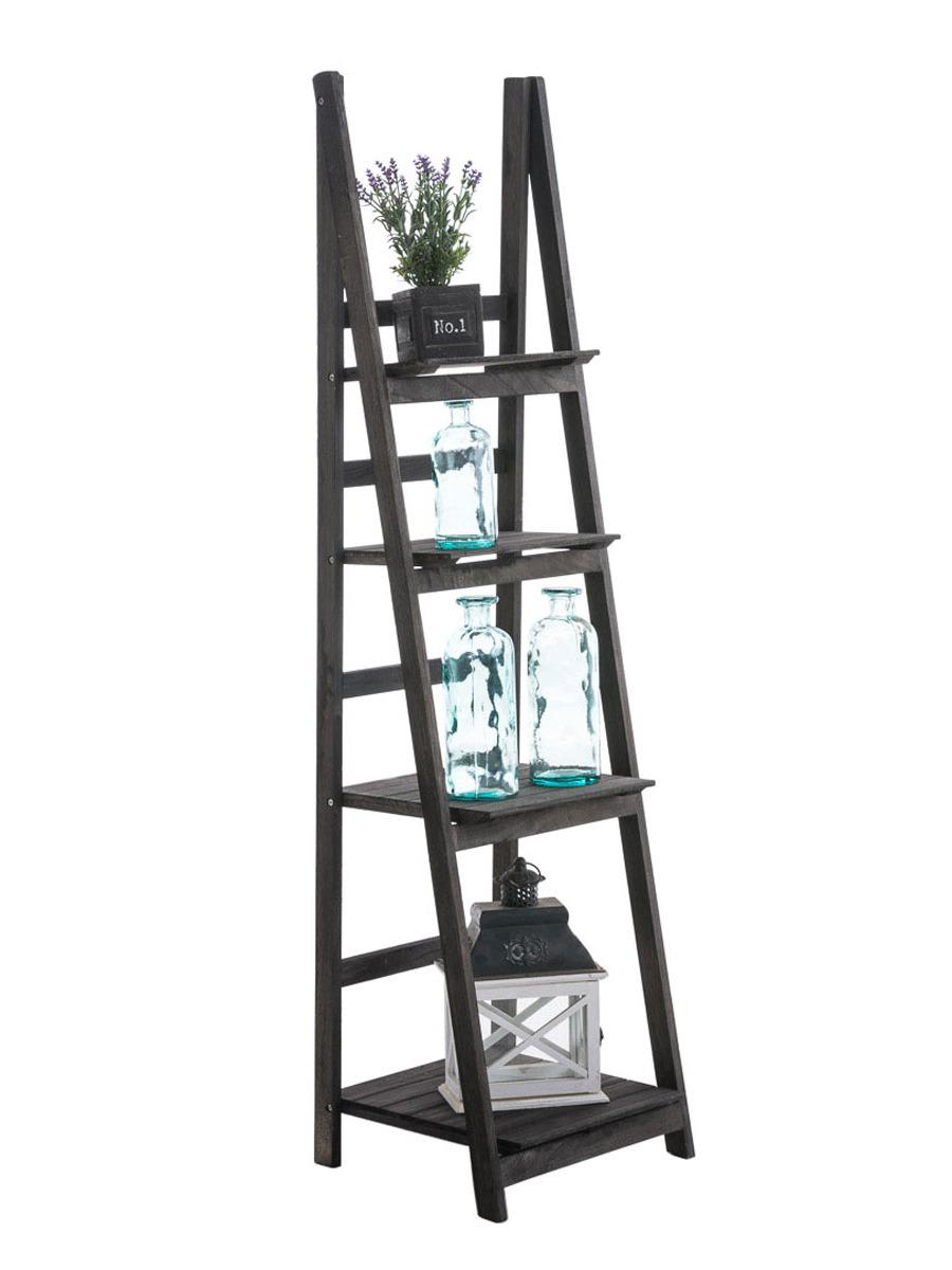 Poschodový regál Talma, 153 cm, tmavohnedá