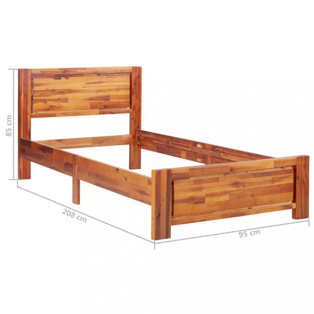 Posteľ akáciové drevo Dekorhome 90x200 cm