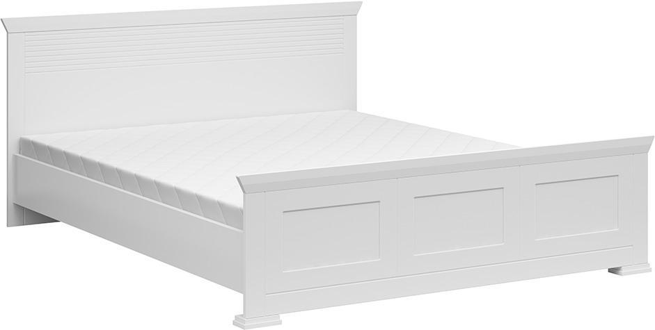 Posteľ, biela, 160x200 cm, ARYAN