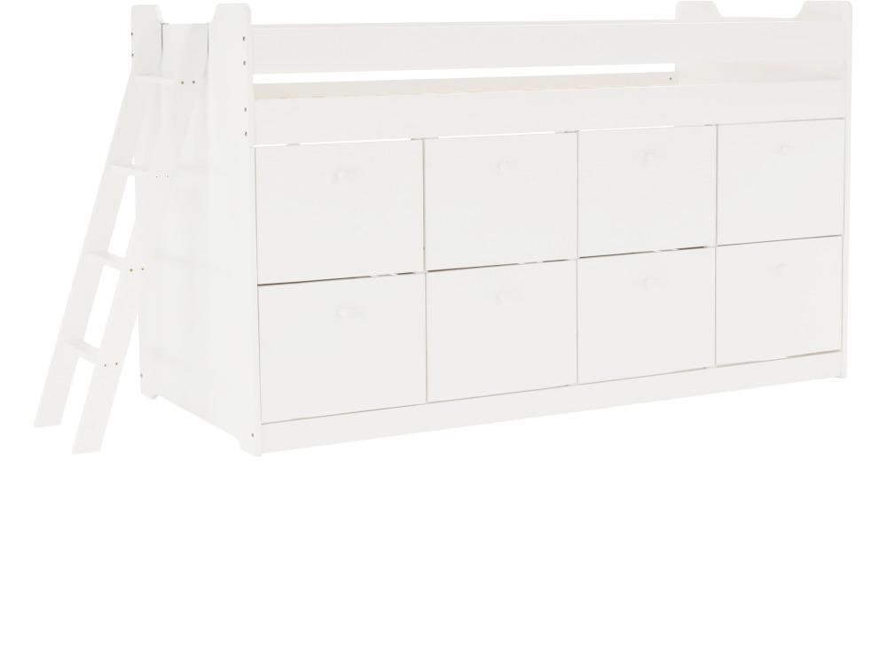 Posteľ, biela, 90x200, JENARA