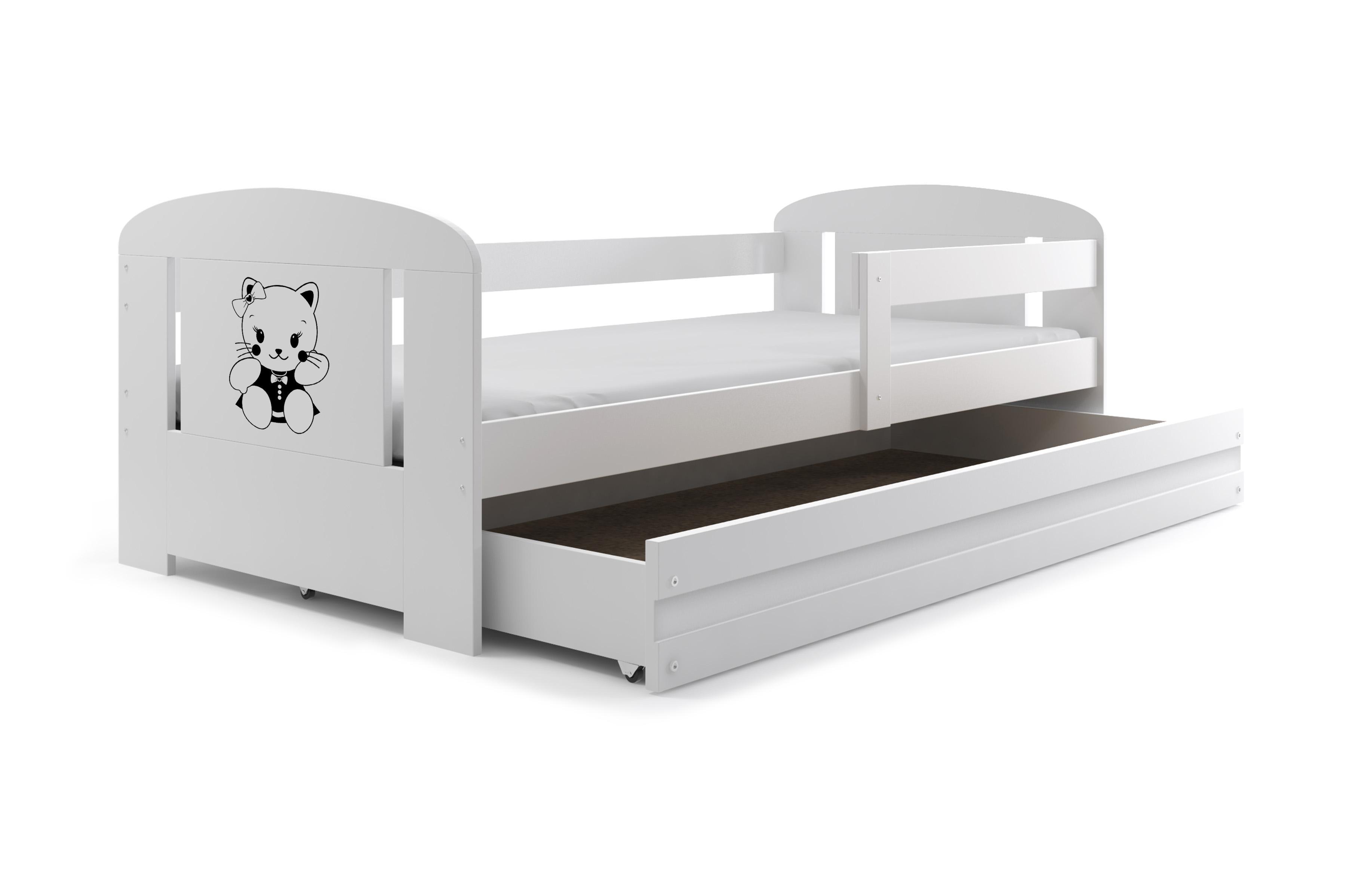 Posteľ FILIP 160x80cm - Biela - Biela - Mačička