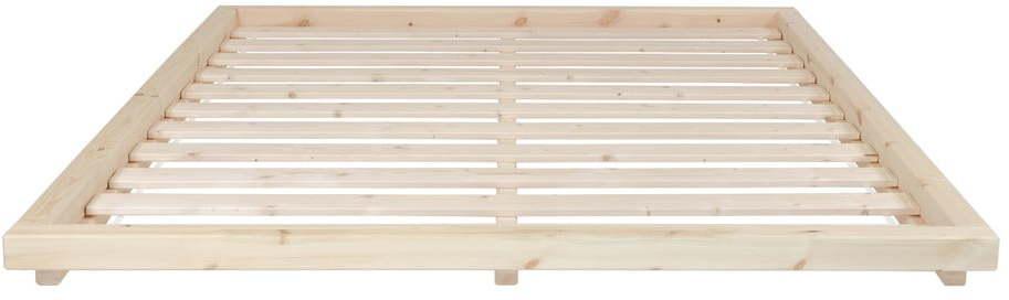 Posteľ z borovicového dreva v prírodnej farbe Karup Design Dock, 180 × 200 cm