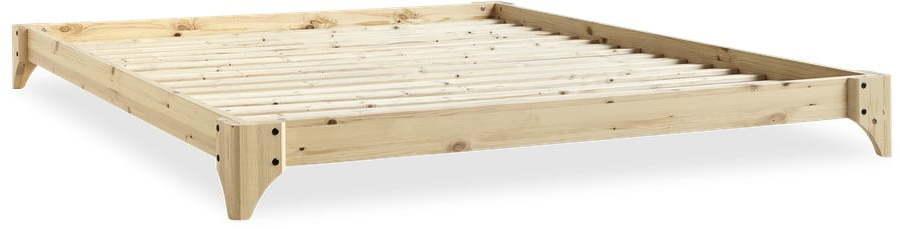 Posteľ z borovicového dreva v prírodnej farbe Karup Design Elan, 180 × 200 cm