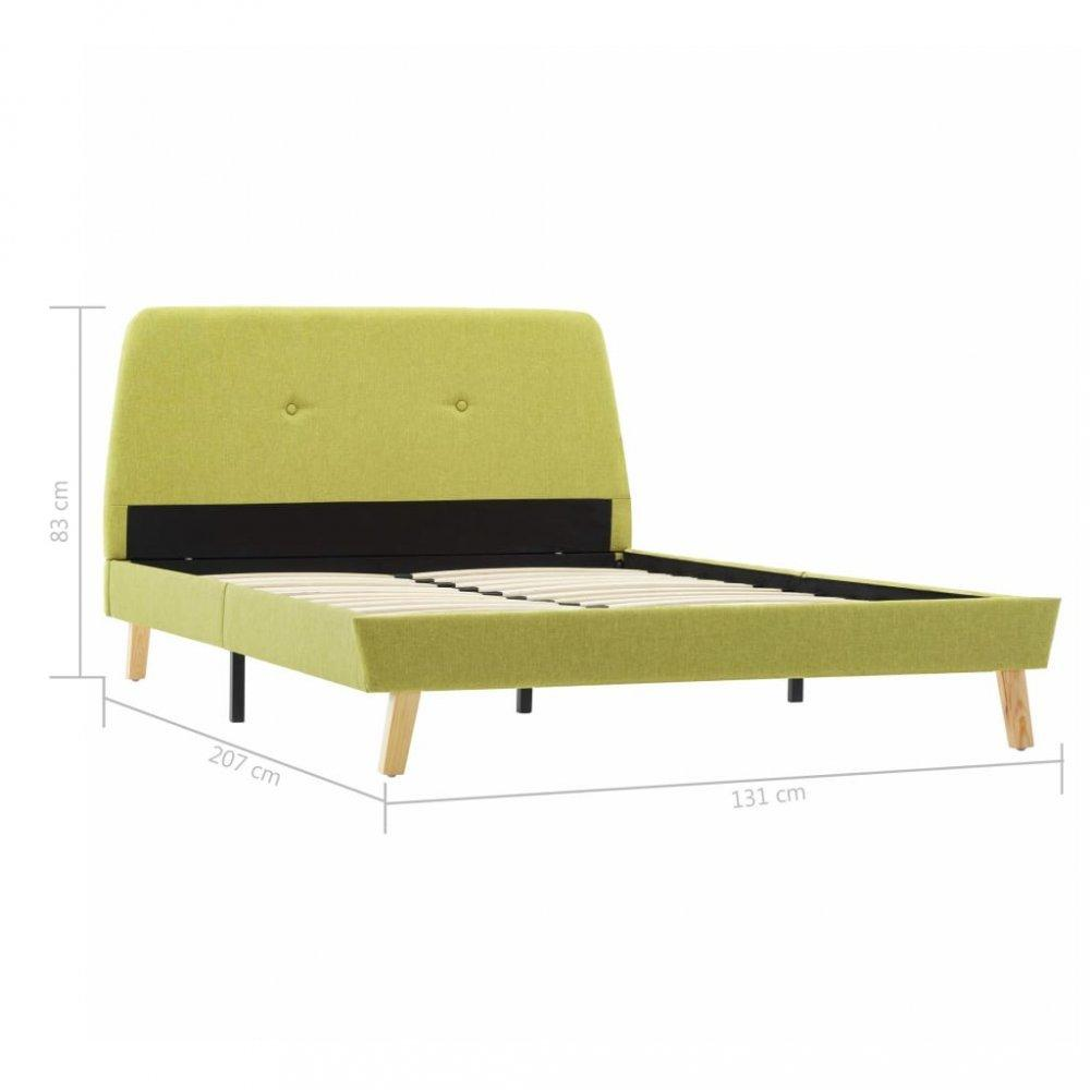 Posteľ zelený textil Dekorhome 120x200 cm