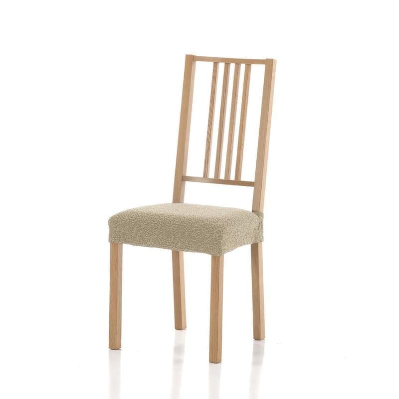 Poťah elastický na sedák stoličky, Petra komplet 2 ks, béžový