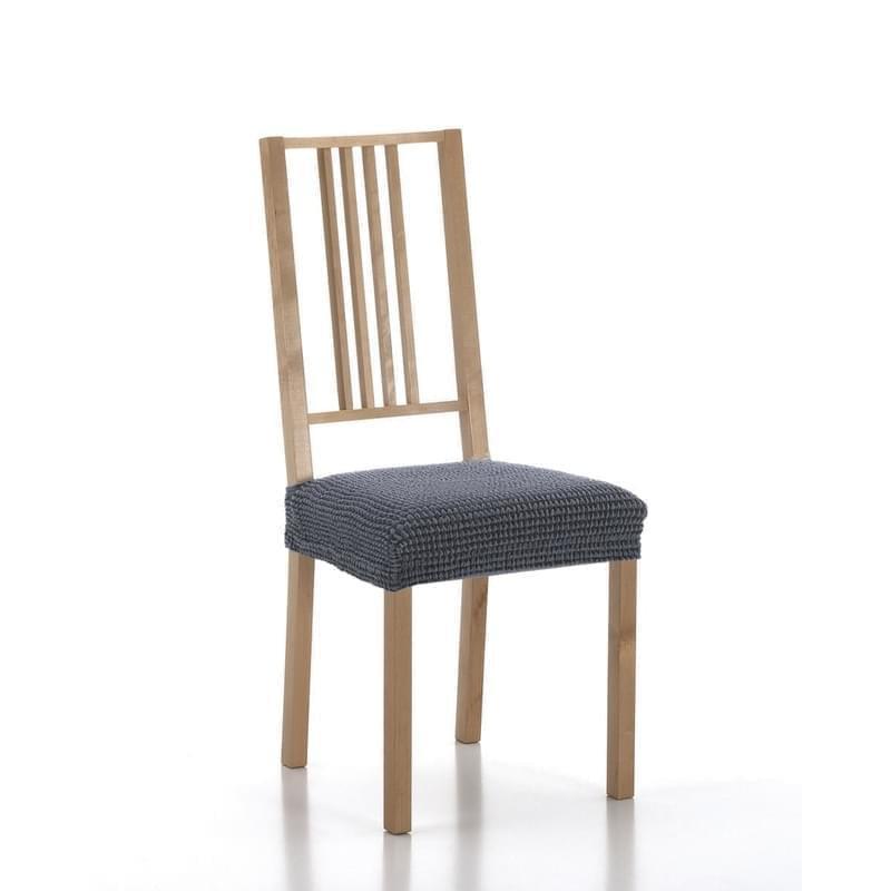 Poťah elastický na sedák stoličky, SADA komplet 2 ks, modrý