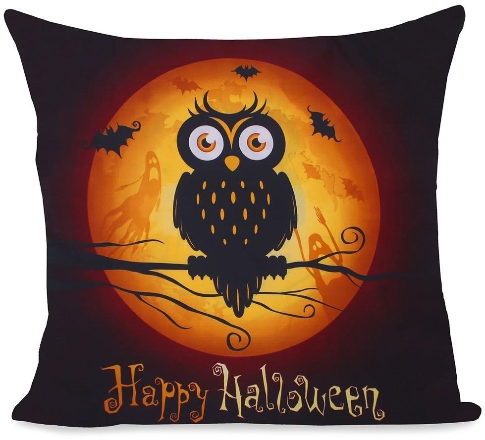 Povlak na polštář Decoking Halloween černý