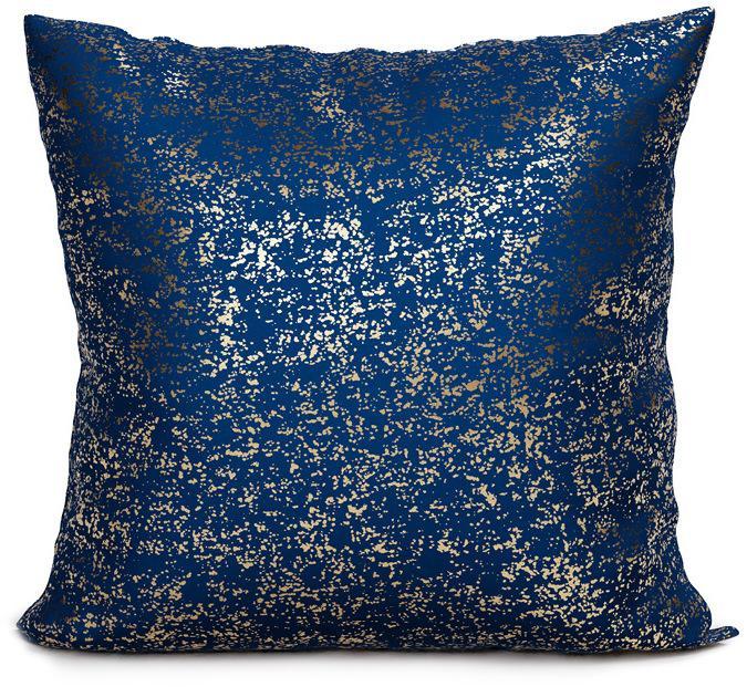 Povlak na polštář Solo 008 - 40x40 cm tmavě modrý/zlatý