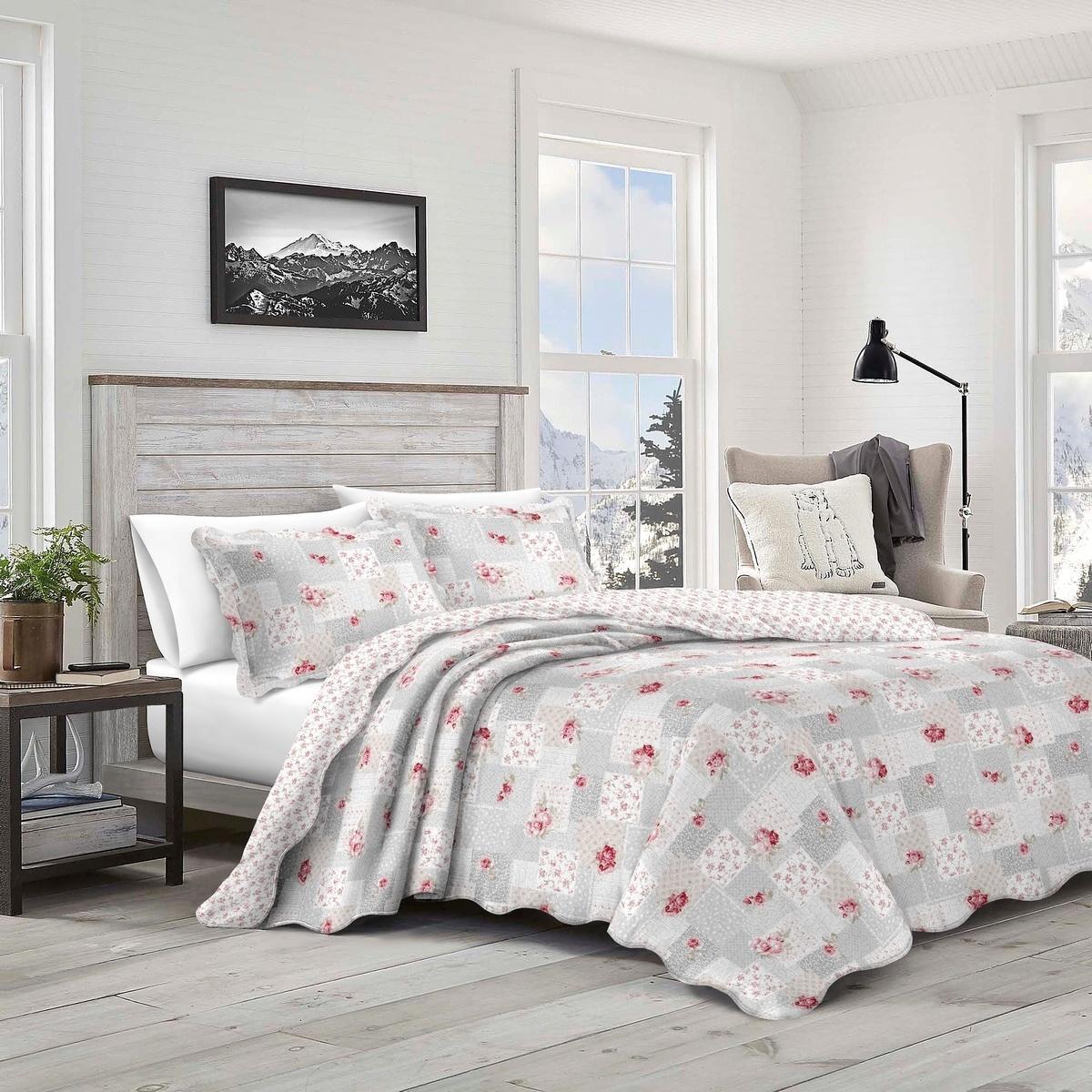 Prehoz na posteľ Patchwork Idea, 140 x 200 cm, 1ks 50 x 70 cm, 140 x 200 cm