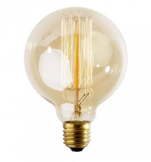 Priemyselná dekoračná stmievateľná žiarovka SELRED G125 E27/60W/230V 2200K 120 lm