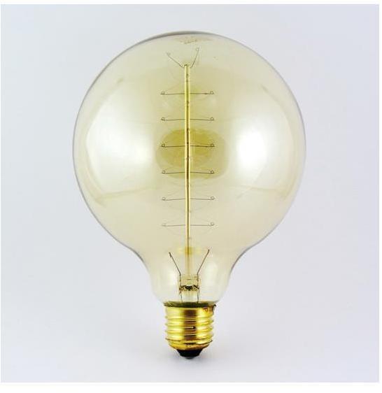 Priemyselná dekoračná stmievateľná žiarovka VINTAGE G125 E27/40W/230V