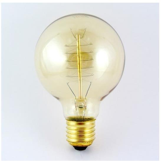 Priemyselná dekoračná stmievateľná žiarovka VINTAGE G80 E27/40W/230V