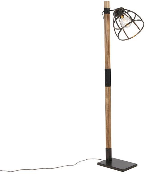 Priemyselná stojaca lampa čierna - Arthur