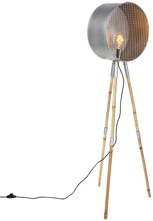 Priemyselná stojaca lampa šedý statív - hlaveň