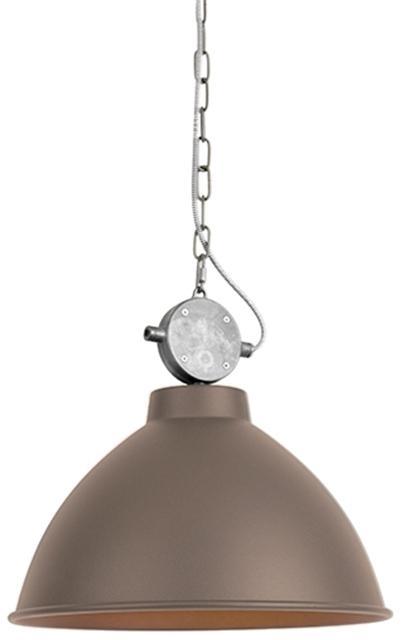 Priemyselná závesná lampa hnedá - Anterio 38
