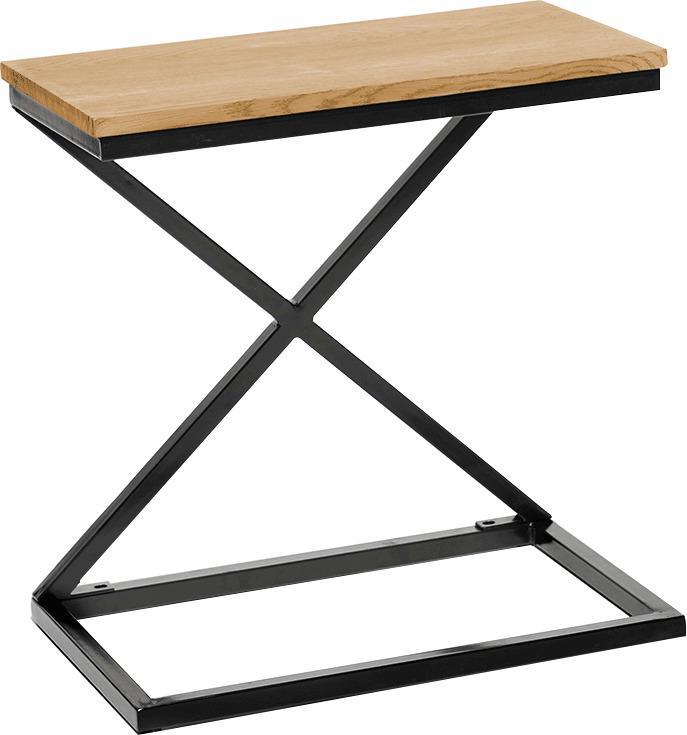 Príručný/nočný stolík, dub/čierna, APIA
