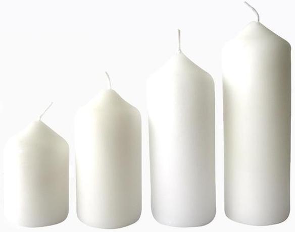 Provence Adventná sviečka ø4m PROVENCE 4 velikosti biela